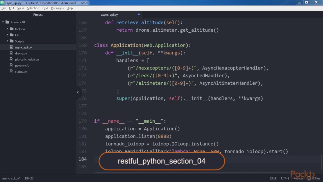 Building RESTful Python web services with Tornado : Setting Up Unit Tests |  packtpub com