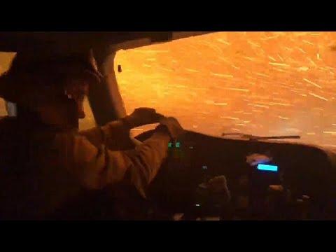 فيديو | لمحة من داخل عربة إطفاء على جحيم حرائق كاليفورنيا …