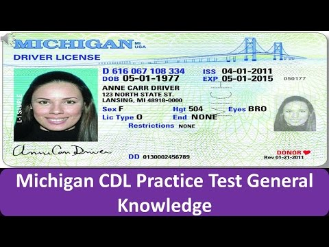 Michigan CDL Practice Test General Knowledge
