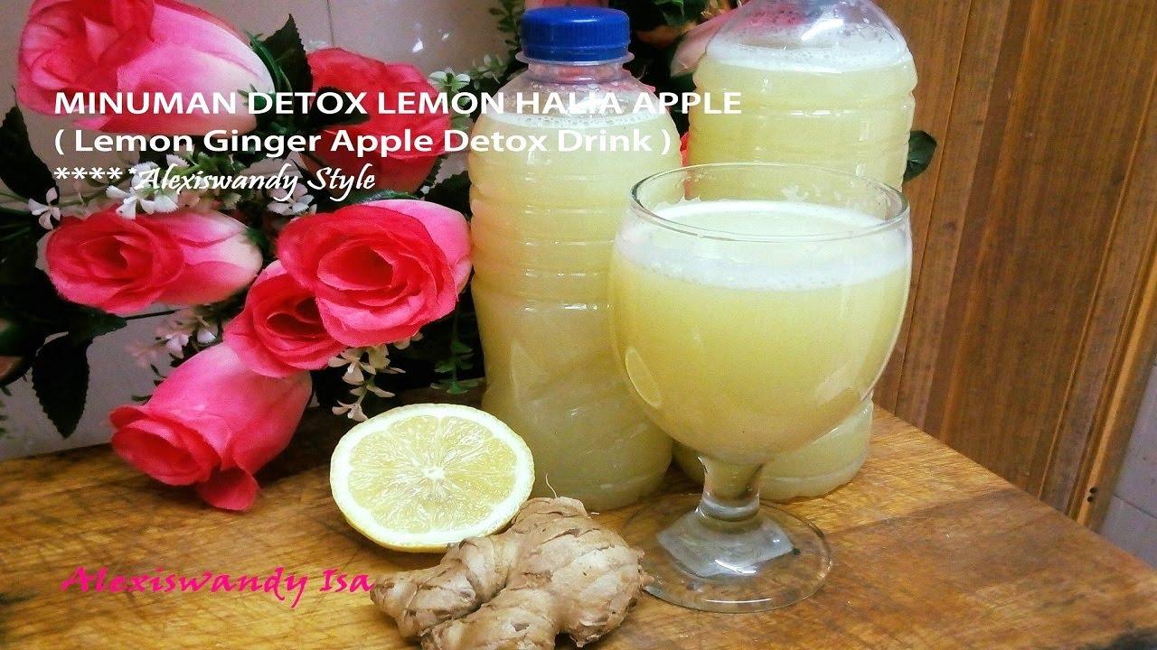Minuman Detox Lemon Halia Apple Lemon Ginger Apple Detox