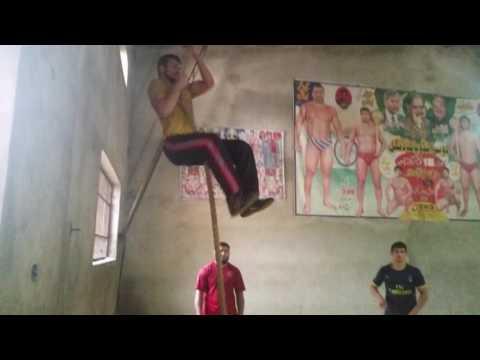 Pakistani wrestler's training in Jinnah helth club