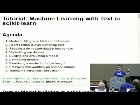 Machine Learning with Text in scikit-learn (PyCon 2016)