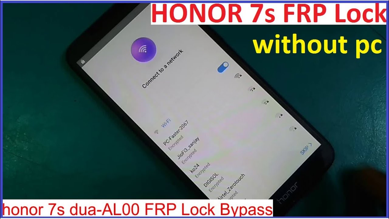 honor 7s dua-al00 google frp lock bypass without pc