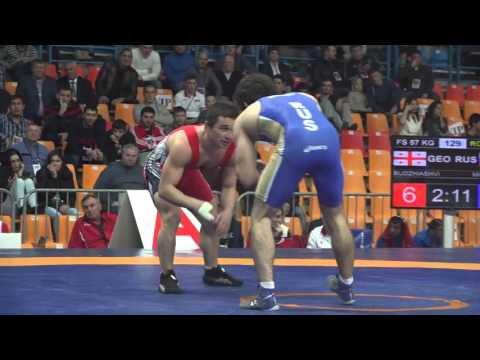 КЕН 2015. Вольная борьба. 57 кг. Исмаил Мусукаев (Россия) - Бека Буджинишвили (Грузия)