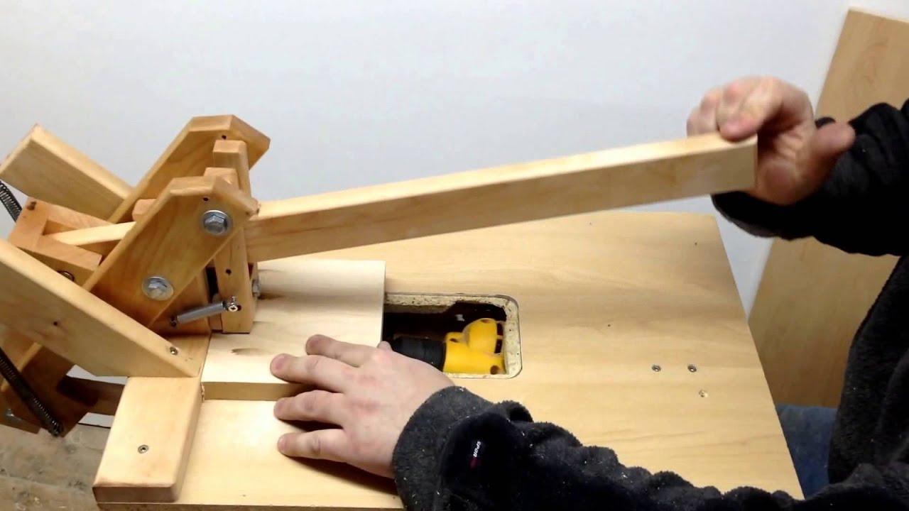 Homemade Quot Kreg Jig Quot Pockethole Machine Drilling Hardwood 4