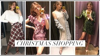 Come Shopping With Me And Try On In Store : TopShop, Zara, H&M | Christmas