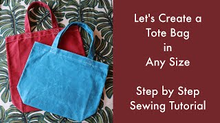 Let's Create a Tote Bag in…
