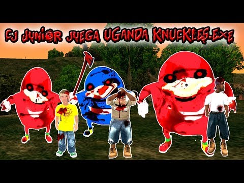 Cj Junior juega UGANDA KNUCKLES - Loquendo - Gta san andreas