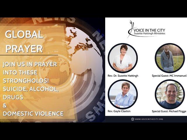 Global Prayer - Suicide, alcohol, drugs & domestic violence