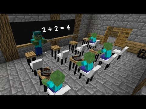 Minecraft MONSTER SCHOOL / MARK OPENS A ZOMBIE SCHOOL !! Minecraft Mods