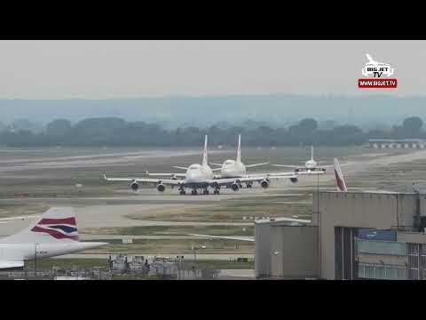 British Airways #Boeing 747 Retirement Show - 'G-BNLN' Live from London Heathrow