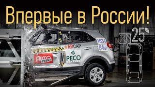 Впервые В России: Hyundai Creta На Убийственном Краш-Тесте С Малым Перекрытием