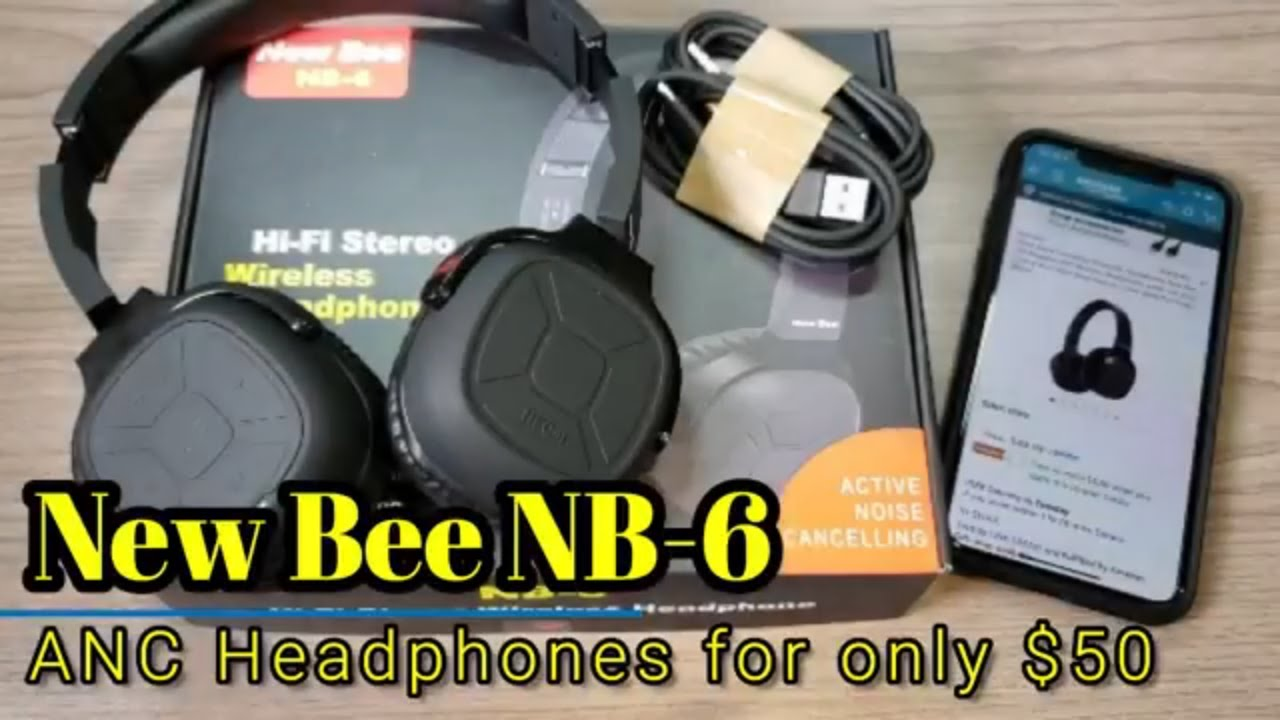 22ec241b0ac New Bee NB 6 - Bluetooth Active Noise Cancelling Headphones for only $50!