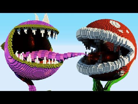 Minecraft vs Smash Bros. – PIRANHA PLANT | CHOMPER | PAC-MAN | GHOST