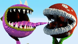Minecraft vs Smash Bros. - PIRANHA PLANT | CHOMPER | PAC-MAN | GHOST