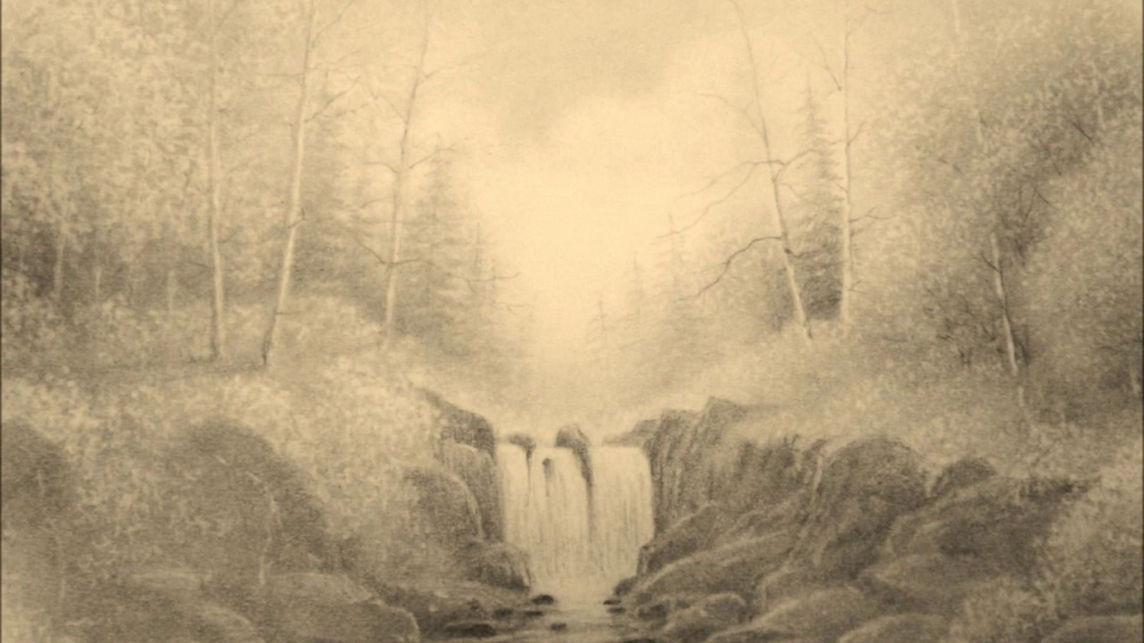 Landscape pencil drawings - YouTube