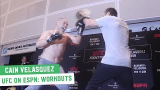 Cain Velasquez Fired Up for Return at UFC on ESPN 1 Open Workouts