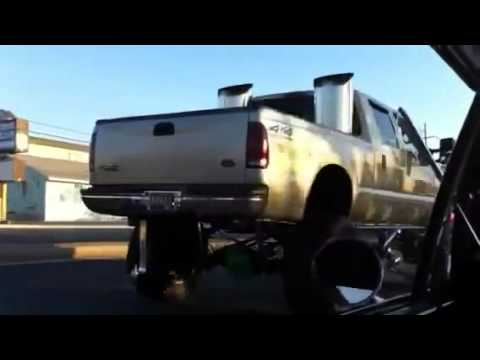 Worlds biggest exhaust stacks 24 inches ford f350 diesel