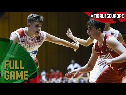 Great Britain v Georgia - Full Game - 3rd Place - FIBA U16 European Championship 2017 - DIV B