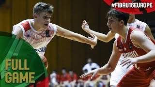 Great Britain v Georgia - Full Game - 3rd Place - FIBA U16 European Championship 2017 - DIV B