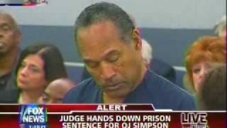 OJ SIMPSON Gets Sentenced to Prison