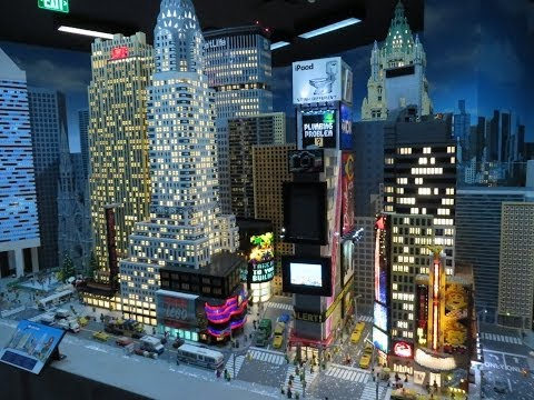 LEGO Movie: New York City Landmark Replicas Miniland at Discovery Center using million bricks