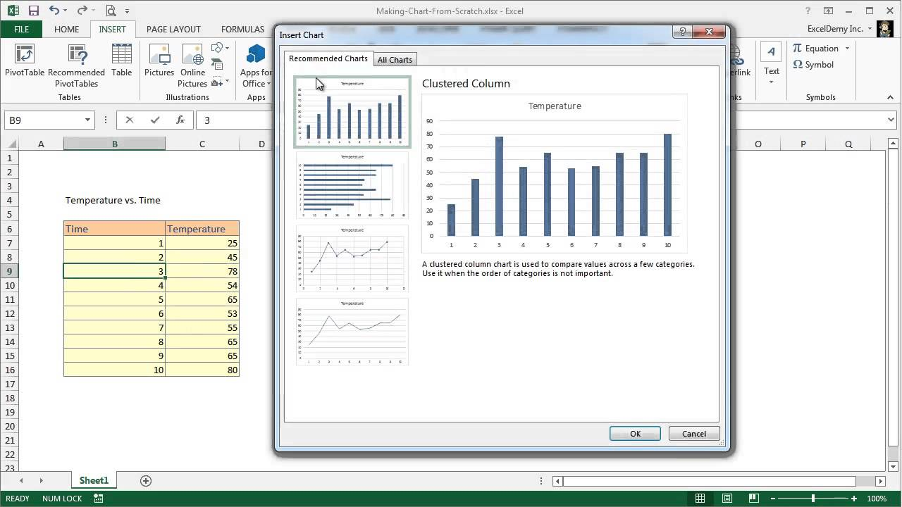 how to make a graph in excel 2010 youtube