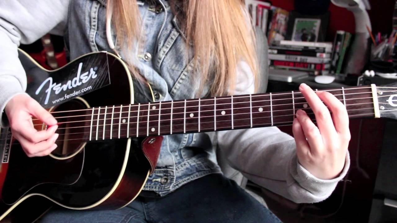My Chemical Romance Desert Song Acoustic Guitar Tutorial Youtube
