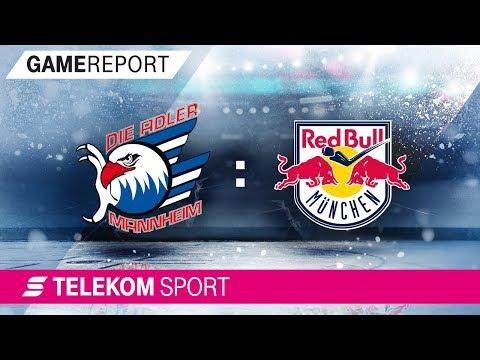 Adler Mannheim - Red Bull München   Halbfinale Spiel 4, 17/18    Telekom Sport