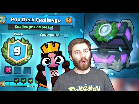 WINNING NEW PRO DECK CHALLENGE!  & x9 WIN STRATEGY! | Clash Royale | PRO DECK CHEST OPENING!