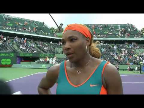 Sony Open Tennis Interview with Serena Williams 3-27