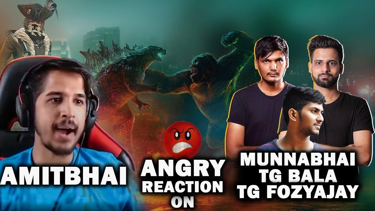 Amitbhai Angry On Munnabhai, TG Fozyajay and TG Bala   Free Fire Highlights