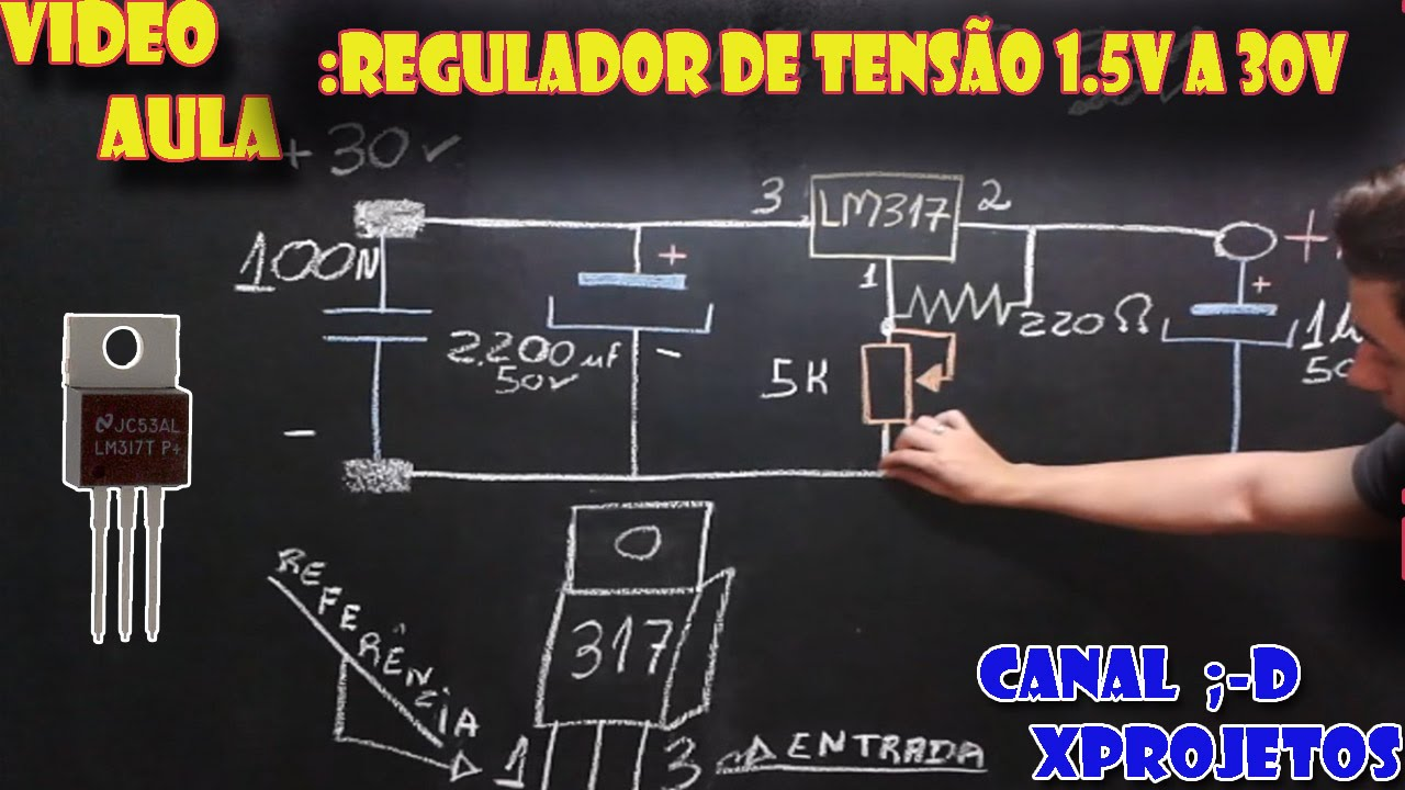 Como Fazer Regulador De Tenso Com Lm317 15v A 30v Youtube Solar Panel Voltage Regulator By Lm358 Tip142