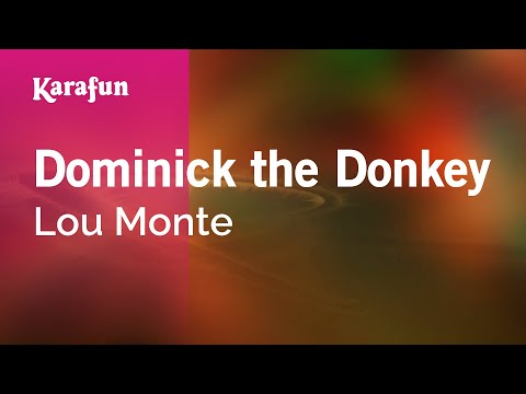 Karaoke Dominick the Donkey - Lou Monte *