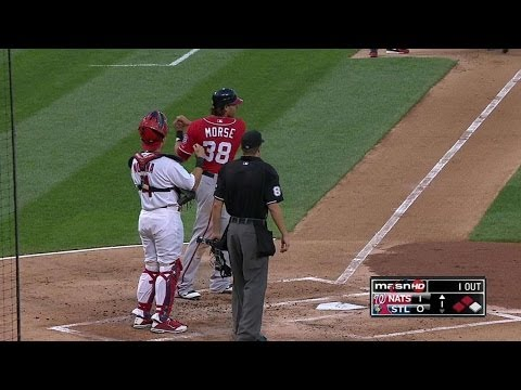 WSH@STL: Morse has single overturned into grand slam