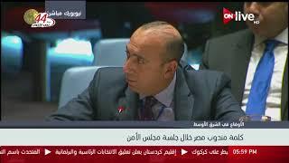 الأوضاع في الشرق الأوسط .. كلمة مندوب مصر خلال جلسة مجلس الأمن