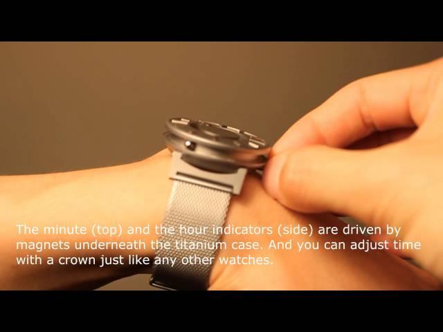 431d9958f08 Um relógio criado para cegos está chamando a atenção também de quem tem a visão  perfeita