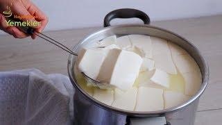 Evde En Kolay Peynir Yapımı - Peynir Altı Suyuyla Lor Peyniri ve Yağlı Top Peyniri