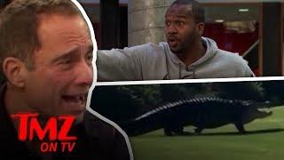 Giant Gator Walks Along Golf Course | TMZ TV