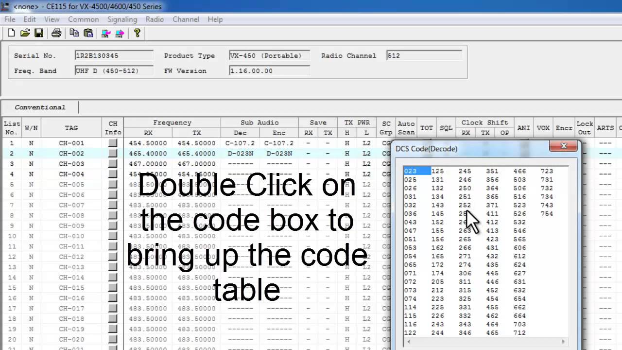 Programming Basics for the Vertex VX-450