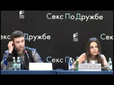 Mila Kunis chews out Russian reporter  in Russian!