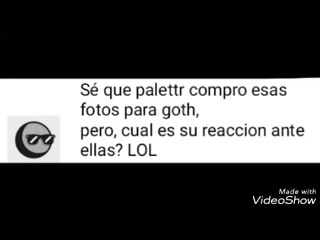 Comic palette x goth español /flowey la flor