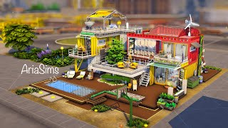 Eco Container Family house NOCC | SIMS4 Eco Lifestyle Speedbuild (Stopmotion) | ARIASIMS
