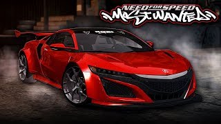 NFS Most Wanted | 2017 Honda NSX Mod Gameplay [1440p60]