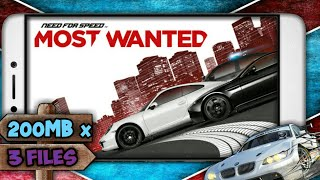 Download and Install Need for Speed Most Wanted|| 200MB x 3Files || APK + Data || Hindi ||