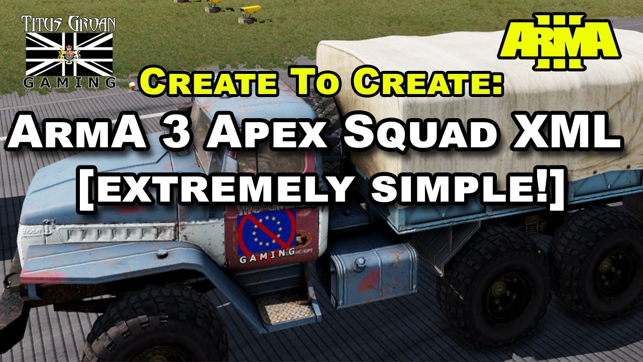 How To Create ArmA 3 Apex Squad XML [extremely simple!]