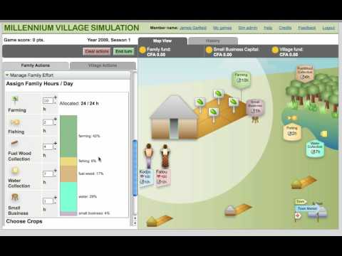 Tutorial: Millennium Village Simulation