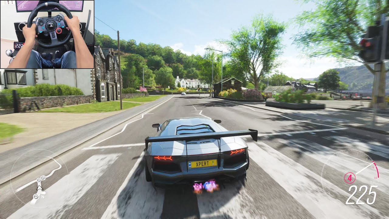 800BHP Lamborghini Aventador Liberty Walk - Forza Horizon 4 | Logitech g29 gameplay