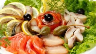 Рыбная нарезка Красивая подача