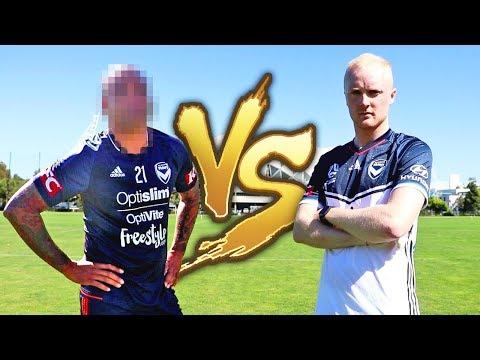 FOOTBALL CHALLENGE VS WORLD CUP FOOTBALL LEGEND!
